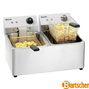 Dobbel Frityr 2X8 liter - Bartscher Snack 1V