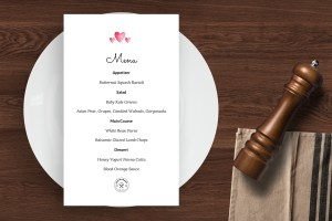 Valentine's Day - Easy to customize restaurant menu template - ASBA Creative Studio