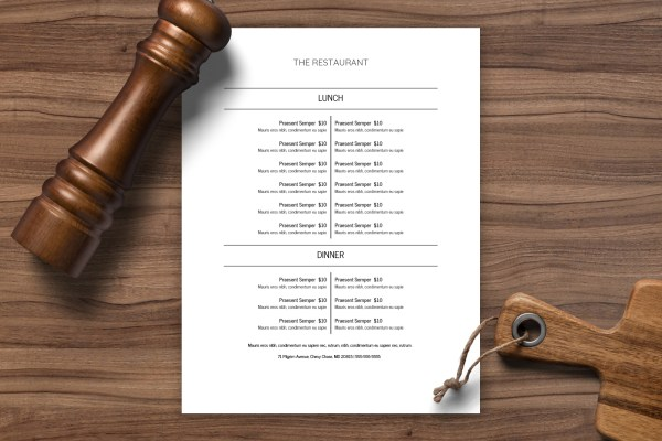 Restaurant Menu Template 25