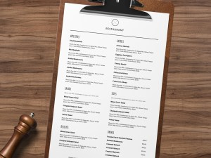 restaurant menu template for microsoft word and google docs