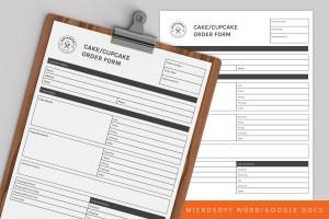 Cake/Cupcake Order Form