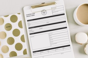order form templates for food