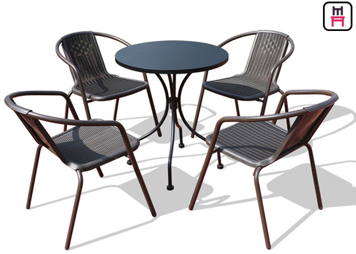 round outdoor restaurant tables carbon