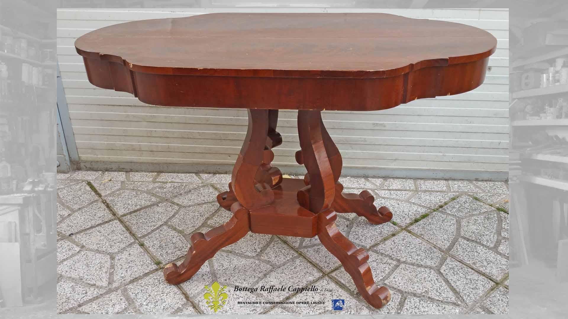 Restaurare Tavolo Legno Rovinato restauro legno caserta, isernia e napoli - restauro cappiello