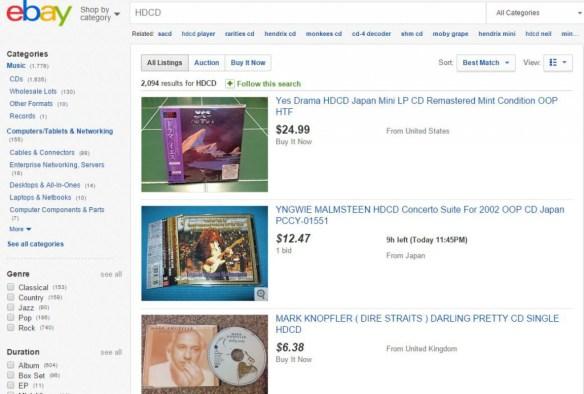 HDCD in Ebay