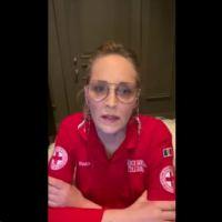 """Sharon Stone, videomessaggio alla Croce Rossa Italiana """"Siete angeli, che Dio vi benedica"""""""