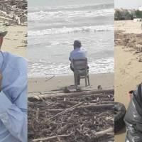 Contemplare e pulire il mare a 93 anni: è il Nonno Plastic Free