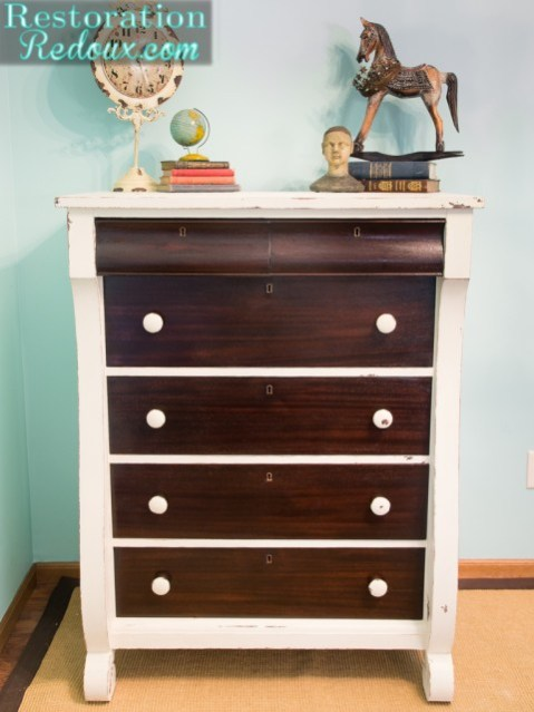 Ivory Two Toned Dresser || Restoration Redoux