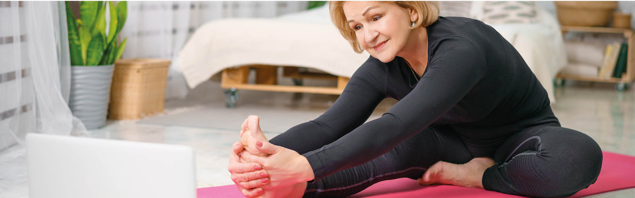Join online slow flow yoga with Carol McFarlane at Restoration Yard