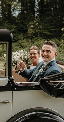 Louise and Mark Wedding Testimonial Restoration Yard