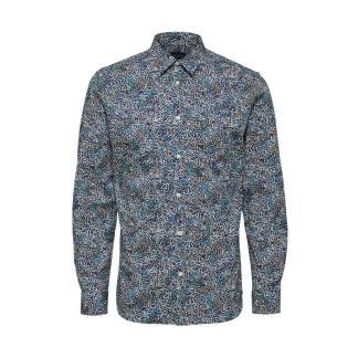 Select Homme Slim Nigel Shirt Estate Blue