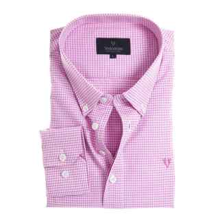 Soft Peach Finish Shirt houndstooth pink