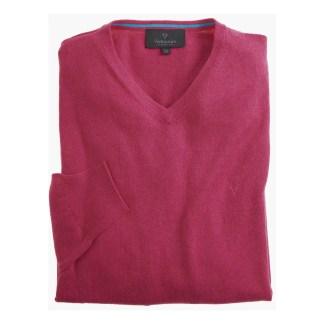 Vedoneire V Neck Cotton Jumper Crackle Pink