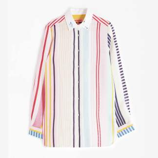Embroidered Dover Boracay Stripe Shirt by Vilagallo | Restoration Yard