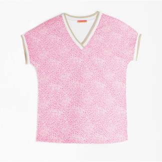 Karla Pink Leopard Print Top by Vilagallo | Restoration Yard