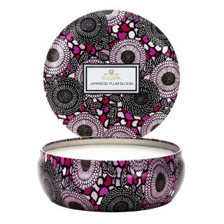 Japonica Plum Bloom 3 Wick Tin Candle By Voluspa | Restoration Yard
