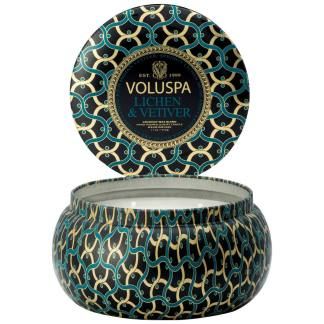 Noir Lichen and Vetiver 2 Wick Tin Candle By Voluspa | Restoration Yard