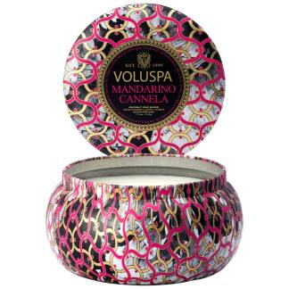 Noir Mandarino Cannela 2 Wick Tin Candle By Voluspa | Restoration Yard
