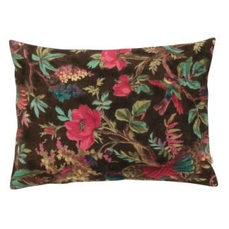 Ian Snow Chocolate Bird Of Paradise Velvet Cushion | Restoration Yard