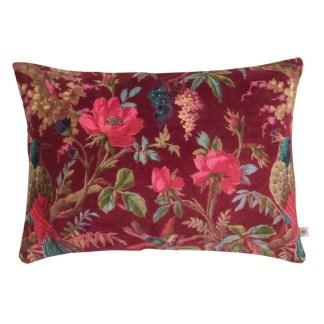 Ian Snow Red Bird Of Paradise Velvet Cushion | Restoration Yard