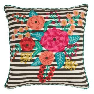 Ian Snow Zivian Black White Stripe Cushion