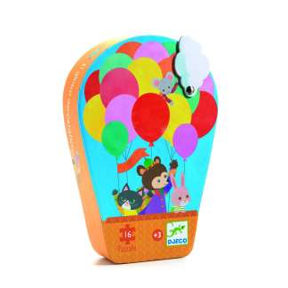 Djeco Silhouette Puzzle Hot Air Balloon   Restoration Yard