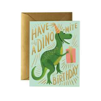 Dino-mite Birthday Greeting Card by Rifle Paper | Restoration Yard