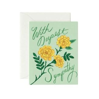 Marigold Sympathy Greeting Card by Rifle Paper   Restoration Yard