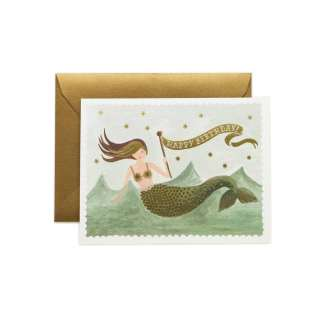 Vintage Mermaid Greeting Card by Rifle Paper | Restoration Yard