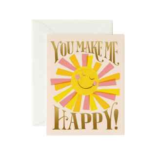You Make Me Happy Greeting Card by Rifle Paper | Restoration Yard
