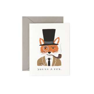 You're A Fox Greeting Card by Rifle Paper | Restoration Yard