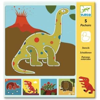 Fun Activities Djeco Dinosaurs Stencils | Restoration Yard