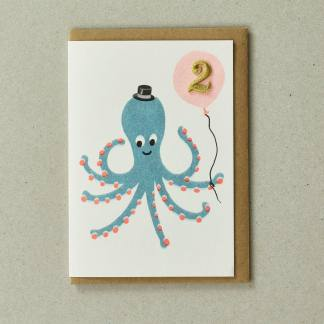Octopus Age 2 Greeting Card by Petra Boase | Restoration Yard