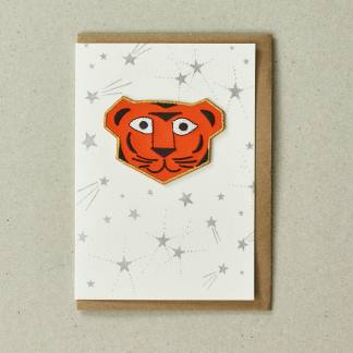 Patch Tiger Greeting Card by Petra Boase | Restoration Yard