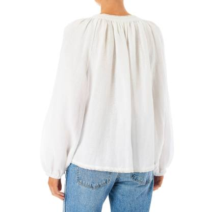 Frankie Embroidered Top White by M.A.B.E | Restoration Yard