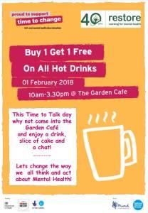 Time to Talk Day @ Garden Cafe | England | United Kingdom