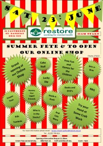 Banbury Restore summer fete 23 June 11am to 4pm 28 Calthorpe Street, Banbury OX16 5EX @ The Orchard | England | United Kingdom