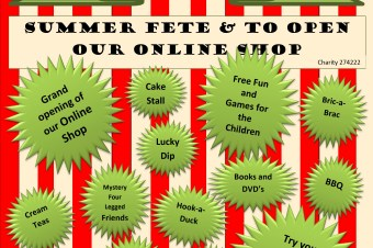 Summer fete at Banbury Restore 23rd June 2018 11-4 28 Calthorpe Street Banbury OX16 5EX