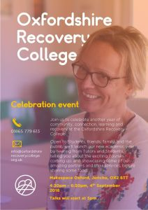 Oxford Recovery College start of term celebration @ Makespace Oxford | United Kingdom