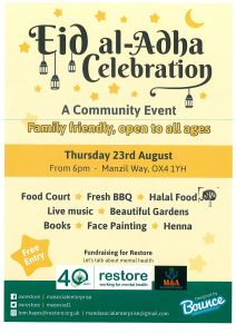 Celebration of Eid al-Adha with People's Fair at Restore's Garden Cafe @ Garden Cafe | England | United Kingdom