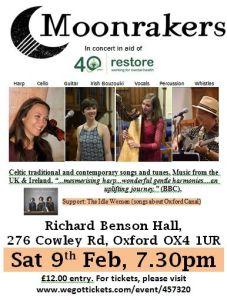 Moonrakers concert at Richard Benson Hall @ richard benson hall | England | United Kingdom