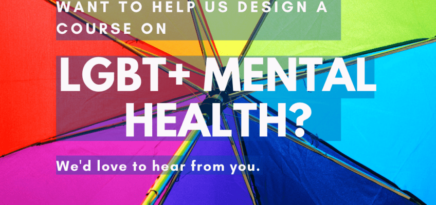 Announcement: New LGBT+ mental health course to be developed at the Oxfordshire Recovery College