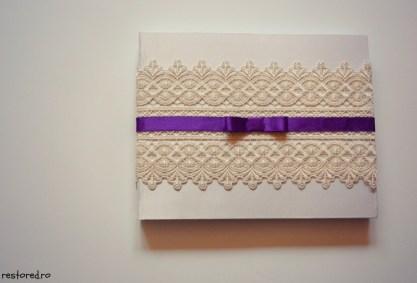 guestbook nunta alb crem violet