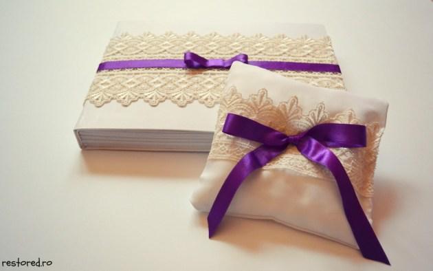 perinita verighete nunta alb crem violet