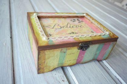 cutie handmade cadou botez