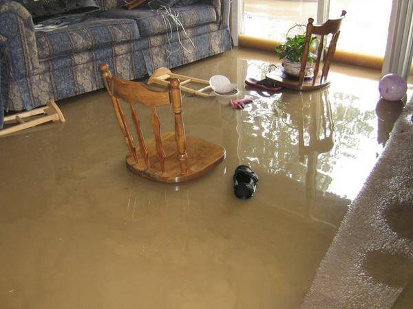 House Damaged By Flood Of Dirty Water