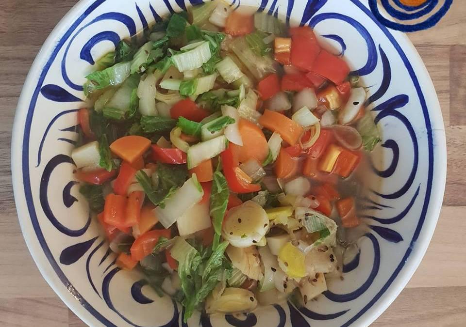 Fresh veggies ayurvedic style 🌿〰️🍃.