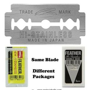 Feather Hi-stainless Platinum Double Edge Razor Blades 1
