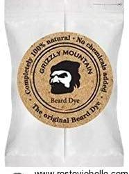 Grizzly Mountain Organic & Natural Dark Brown Beard Dye - Best Beard Dye