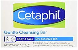 Cetaphil Antibacterial Gentle Cleansing Bar Soaps